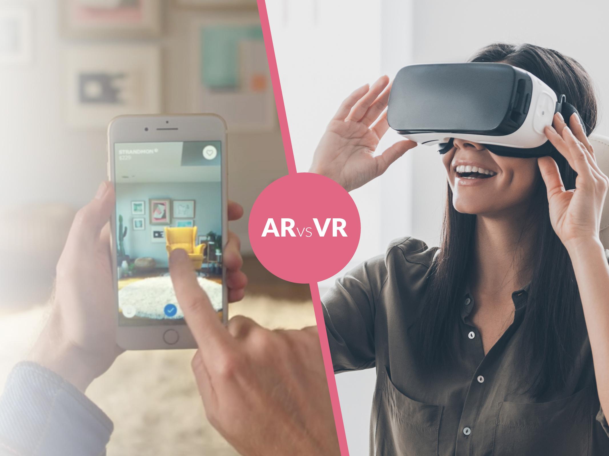 La differenza tra realtà aumentata (AR) e realtà virtuale (VR)